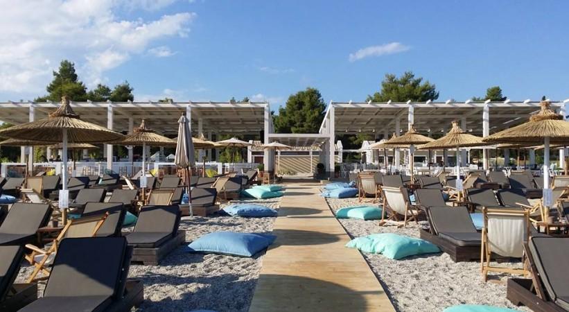 Beach Bar Umbrellas Halkidiki
